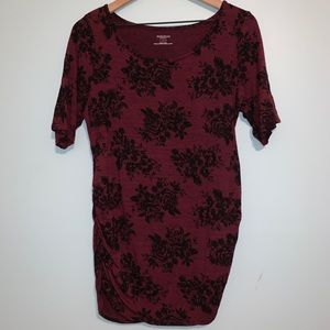 Motherhood Maternity - Burgundy Rose Tee